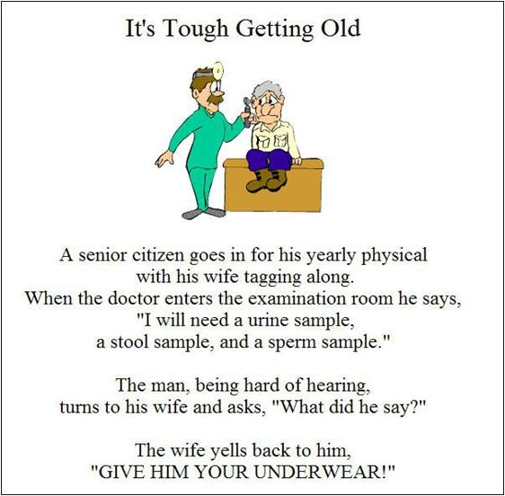 Tough getting old