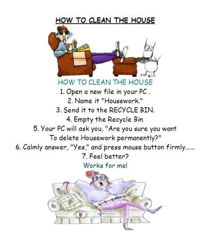 eHow clean the house