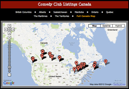 canada comedy club listings