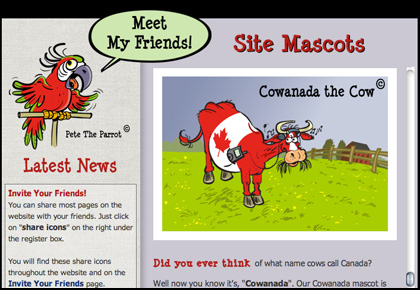 meet all of our site mascots