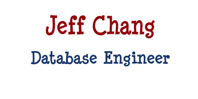 jeff is our database and server systems engineer
