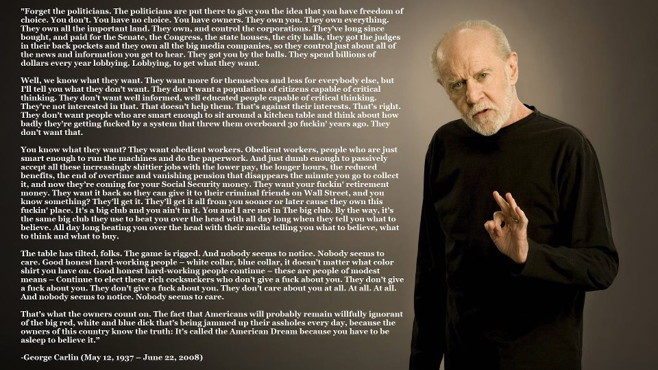 Carlin Says It Right