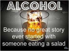 Alcohol vs Salad